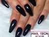 Black Glitter Acrylic Nails