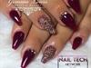 Burgundy Glitter Nails