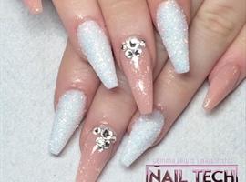 nail art: Nude Sugared Nails