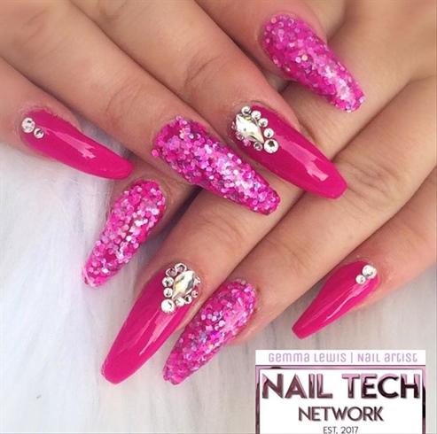 Hot Pink Acrylic Overlay