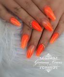 Neon Orange Ombre
