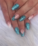 Mermaid Turquoise/aqua nails