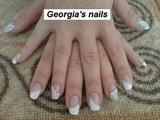 French Manicure(Swarovski)