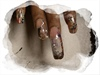 Ed Hardy Water Nail Art
