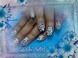 Zebra Stripes nail art