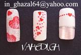 ~ghazal~  valentine's nail design