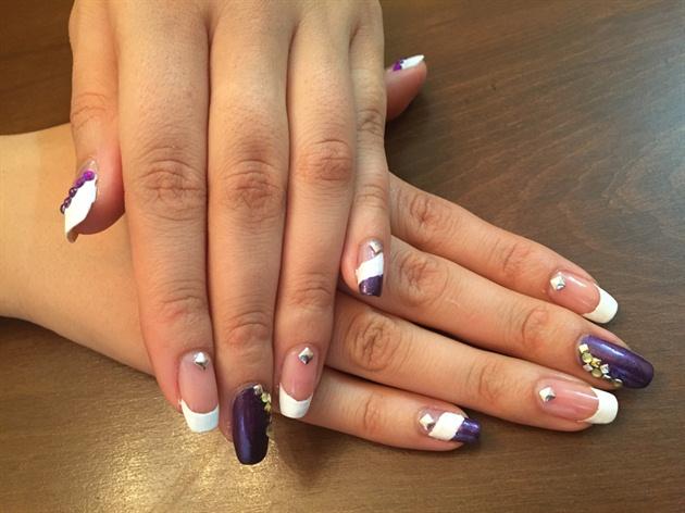 Purple,french,nail Art