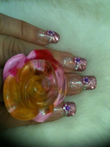 Fimo Flower With Glitter