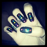 Black & Color Dots