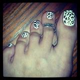 Black & White Cheetah Toes