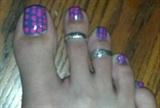 Purple & Pink Polka Dots Toes