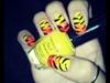 NeonYellow blended w/Neon Orange Tiger
