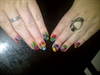 Block colour abstract nails