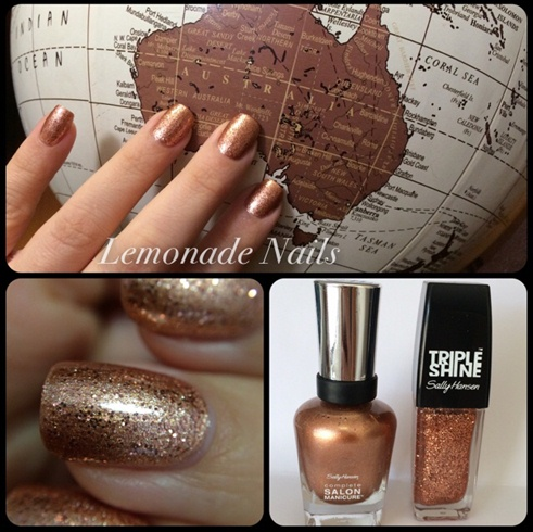 Bronze Beach Nails