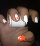 Orange Nail Art 🔶🔸🔶