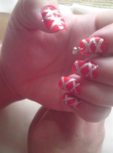 ballet shoe, inspired nails