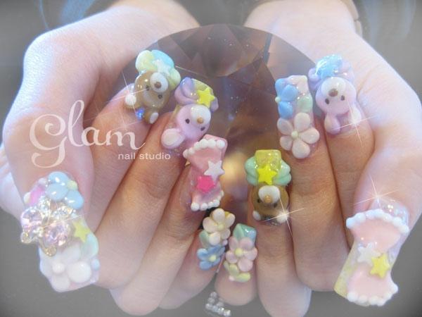 Cute 3d nails nail art gallery cute 3d nails prinsesfo Gallery