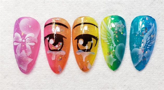Cute Airbrush Nail Art