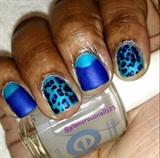 Leopard Print & Half Moon Nails