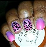 Leopard Print & Ombré Nails