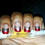 Christmas Chevron Nails