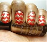 Chevron Christmas Nails