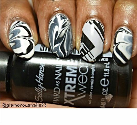 Black & White Watermarble