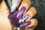 Leopard Print Accent Nail