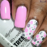 Pink & Silver Dots