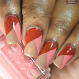 Red, Salmon & Milk Chocolate Color Block