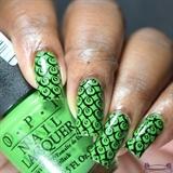 Green & Black Stamping