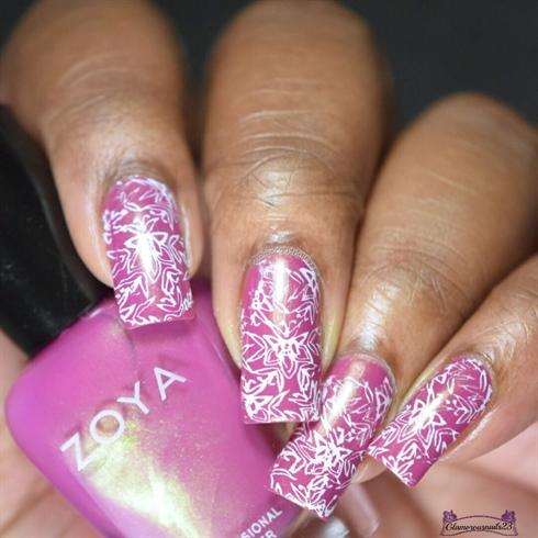 Rose & White Stamping