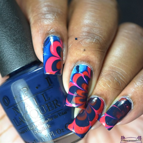 Watermarble Wednesdays: Red & Blue
