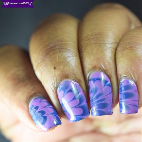 Watermarble Wednesdays: Lavender & Navy