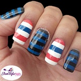 RED, BLACK & BLUE STRIPES