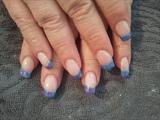 blue/pink swirl french