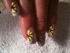 yellow glitter sun flowers