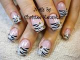 Zebra w rhinestone