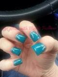 Teal Blue Glitter