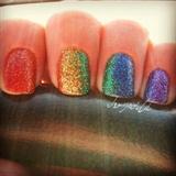 Rainbow Glitter Gradient