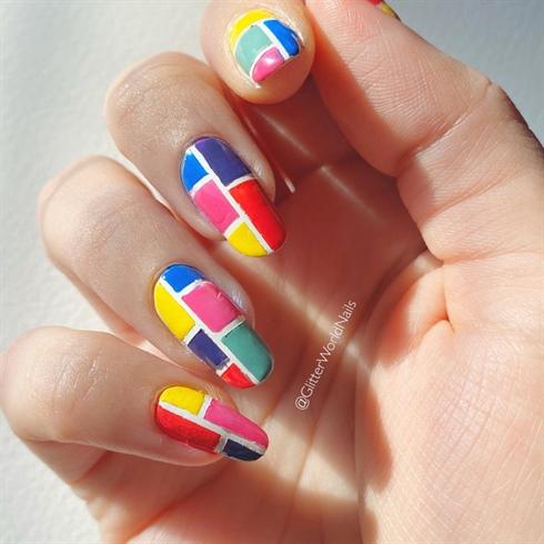 Color Block Nails 🎨