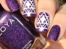 nail art: Purple Geometry