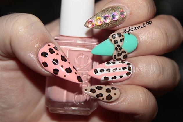 Cheetah Print Fantasy Nails