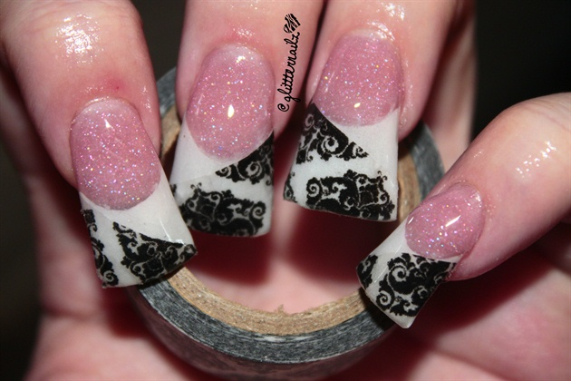 Flared Damask Nails Nail Art Gallery