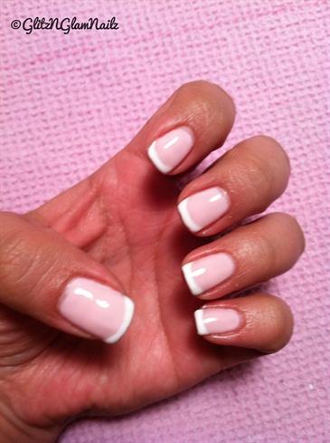 Gelish Pink & White