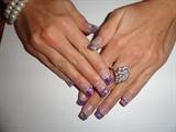Purple & Silver Zebra Nails