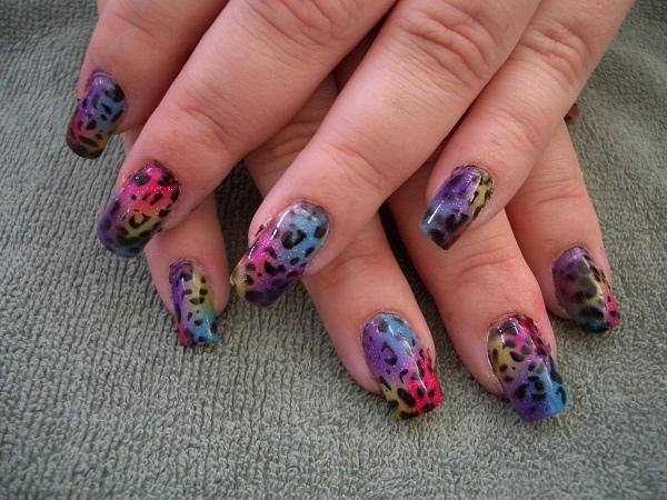 Airbrush cheetah print nail art gallery prinsesfo Images