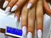 White glitter 3D