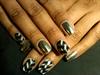 Silver 3d Minx Nails