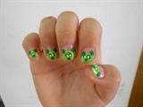 Green Panda nails☺(inspired)